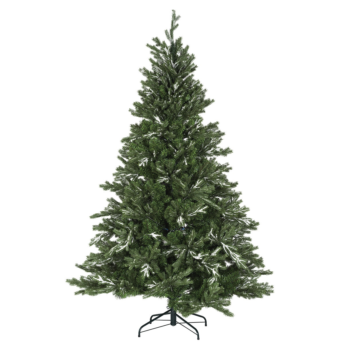 Julgran med snö, 210 cm