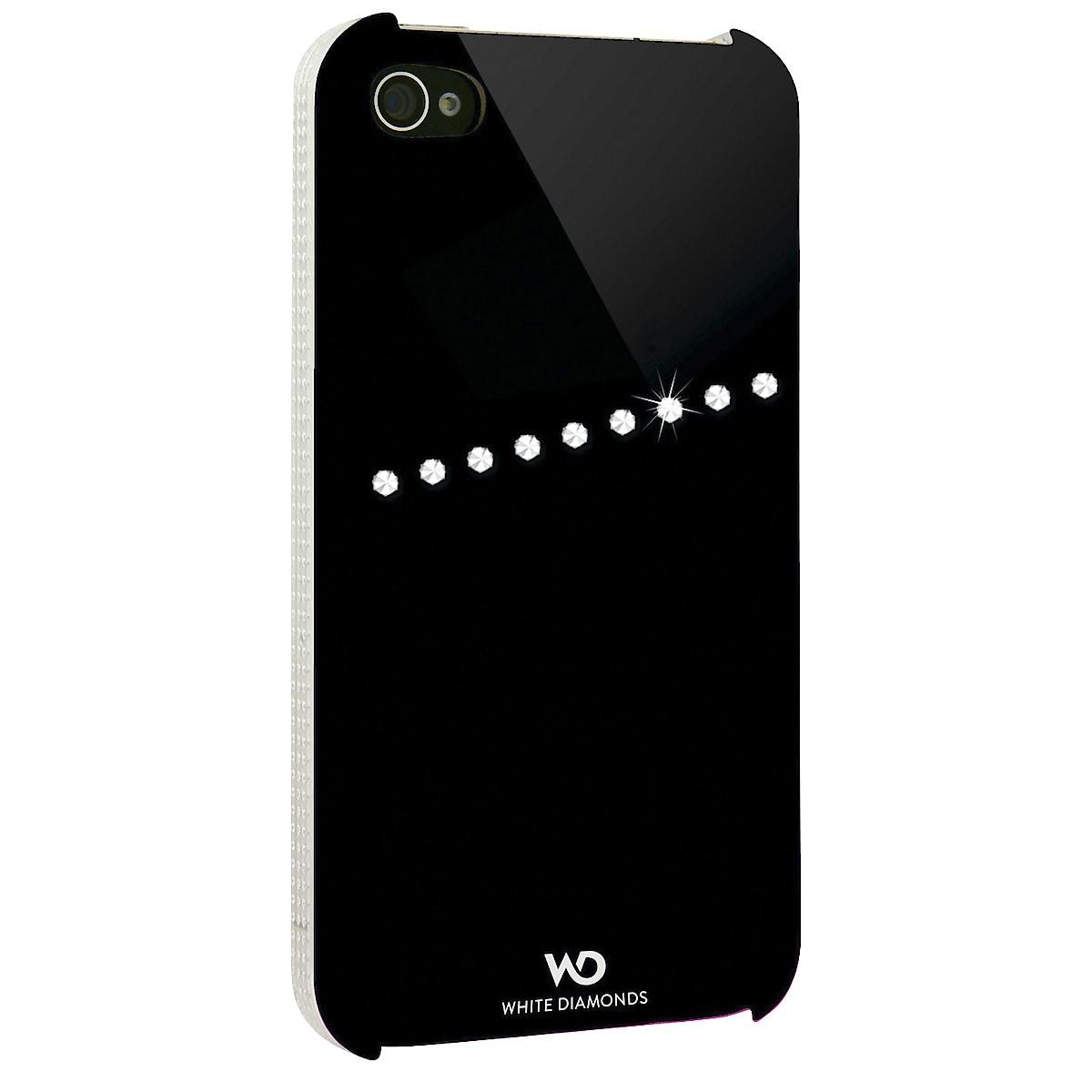 White Diamonds Sash Shell for iPhone 4