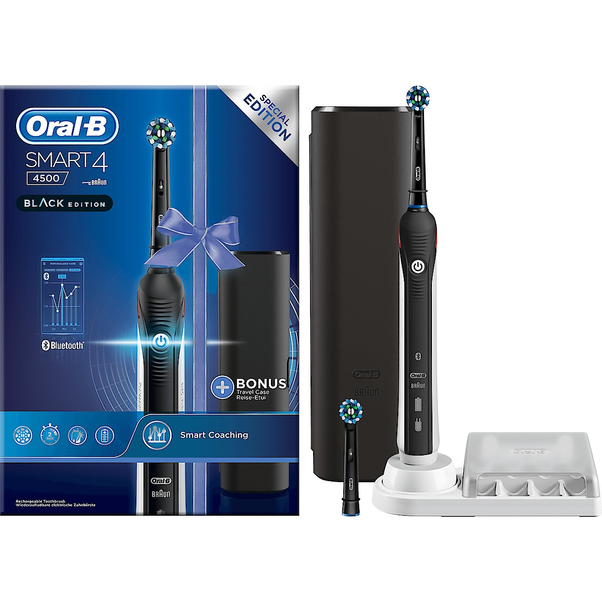 Sähköhammasharja Oral-B Smart 4, 4500 Black