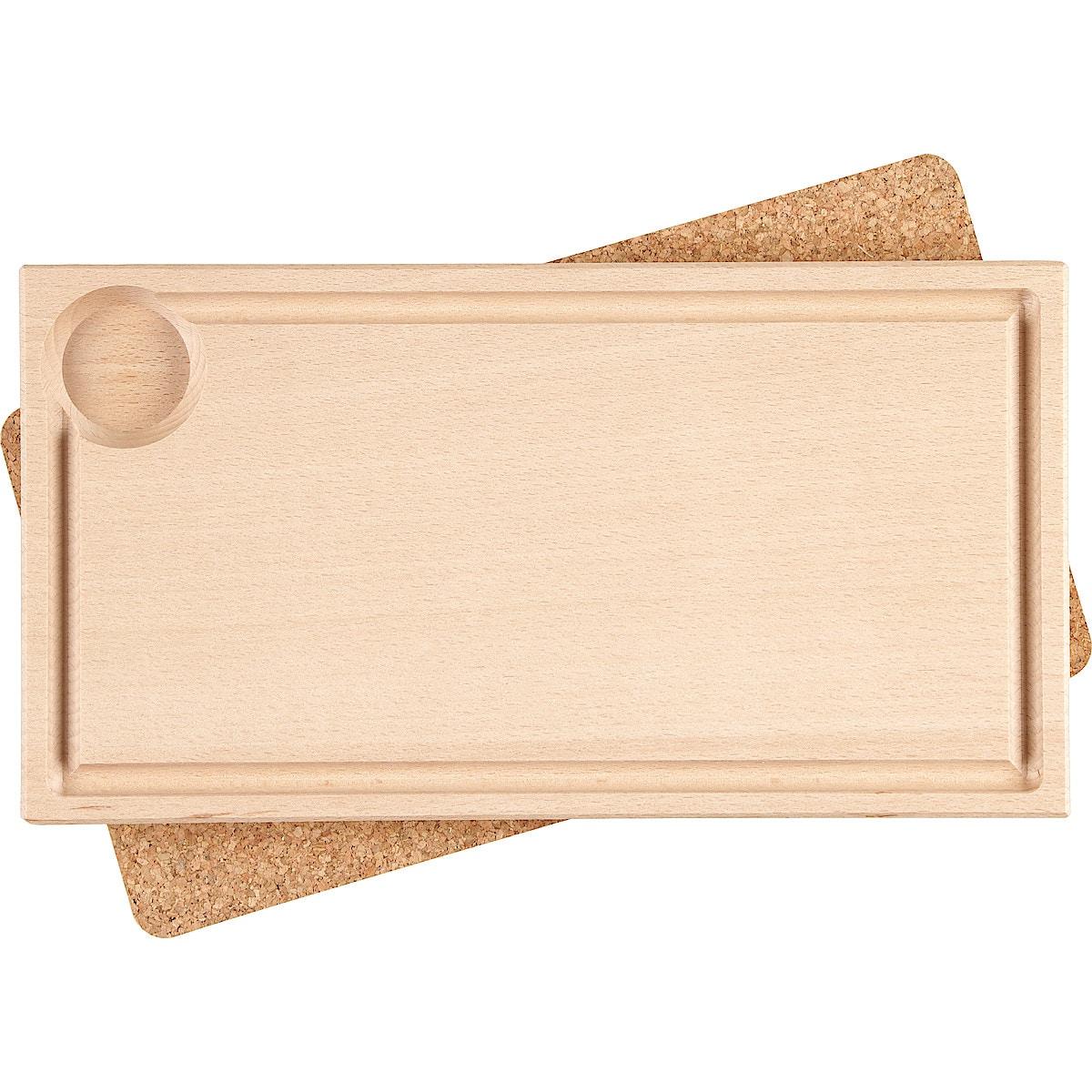 Plankestekfjøl med underlegg, 2-pakning
