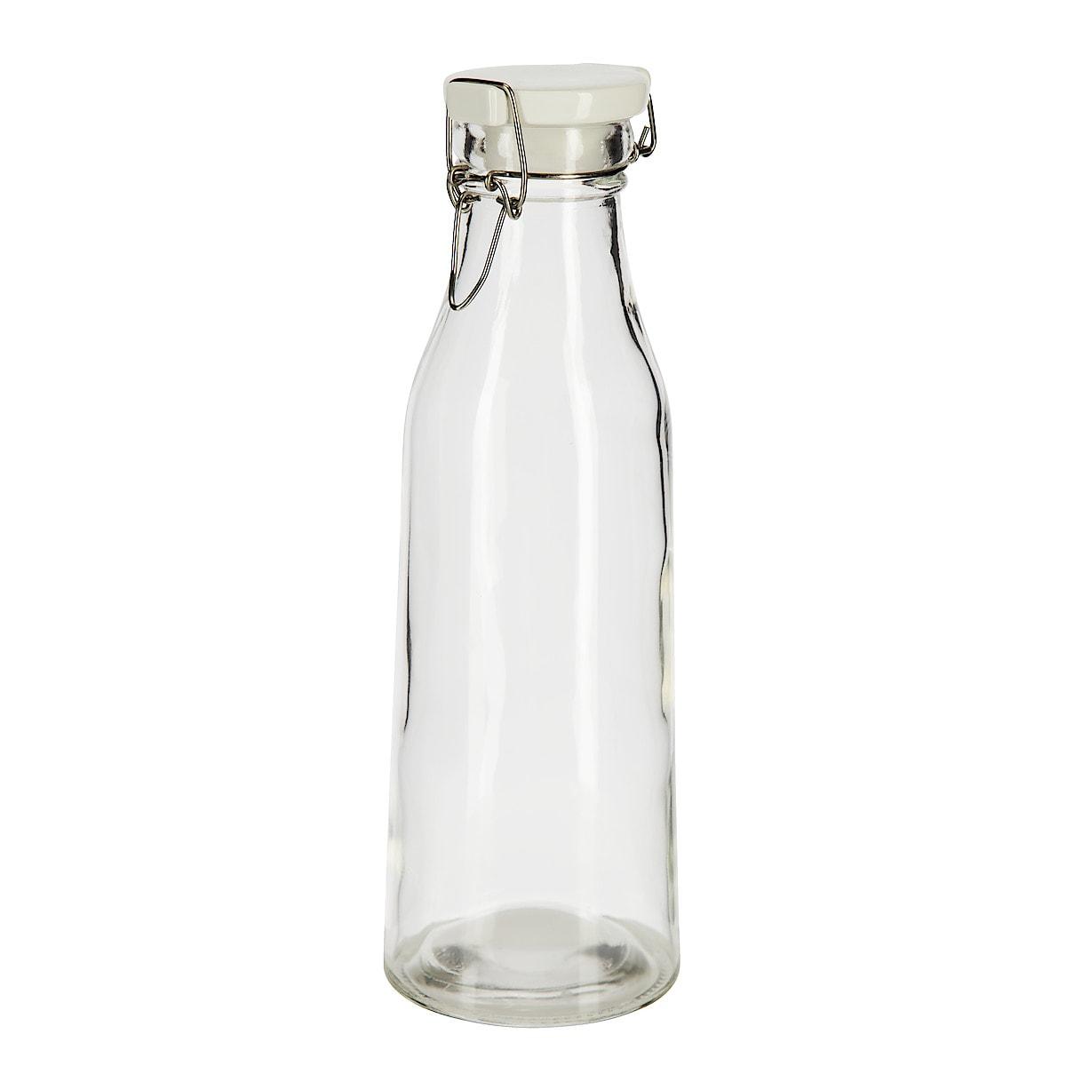 Glasflaska med snäpplock