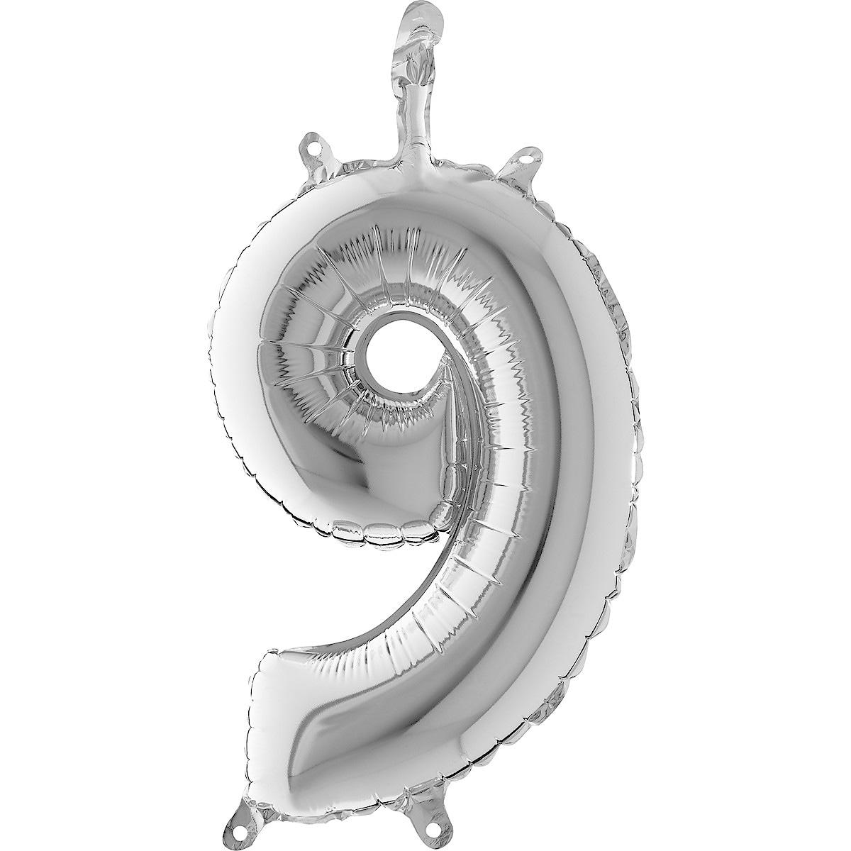 Ballong tall, sølv
