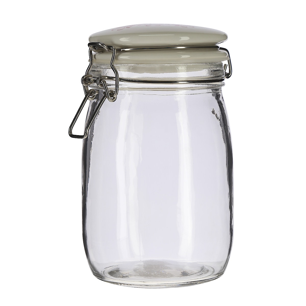 Folklore Glass Jar with Ceramic Lid