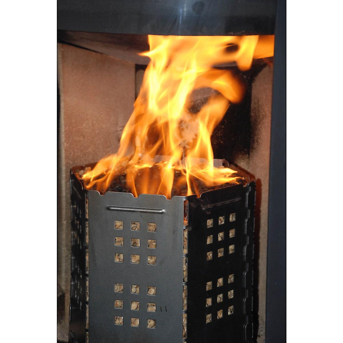 Pelletskorg för eldning