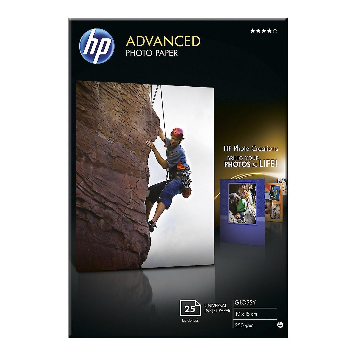 Fotopapper 10x15 cm HP Advanced photo paper, Glossy