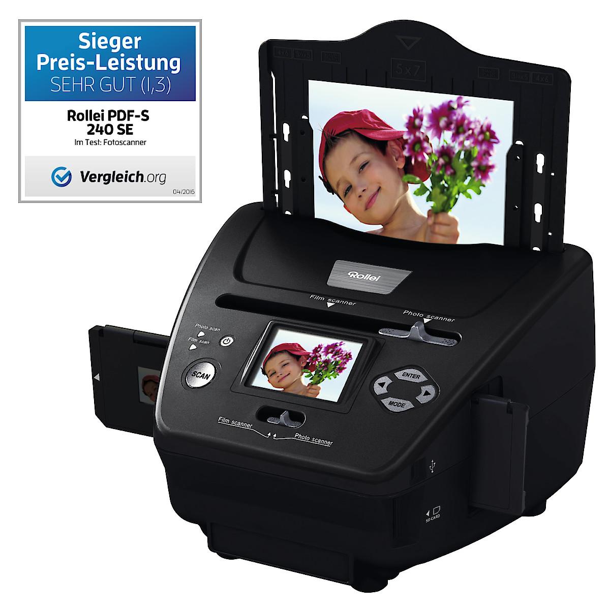Negatiivi-, valokuva- ja diaskanneri Rollei PDF-S 240