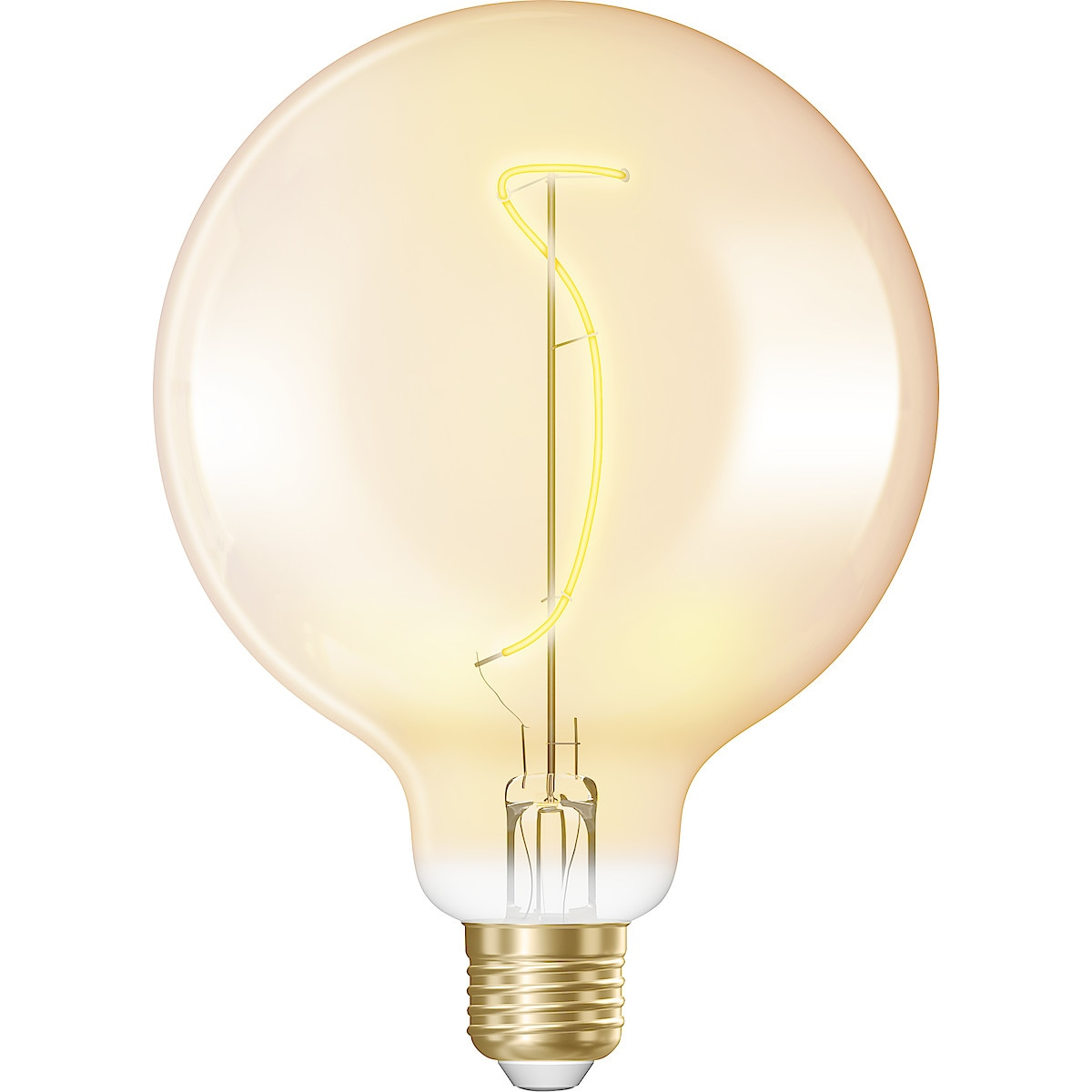 Northlight Amber E27 Globe LED Filament Bulb