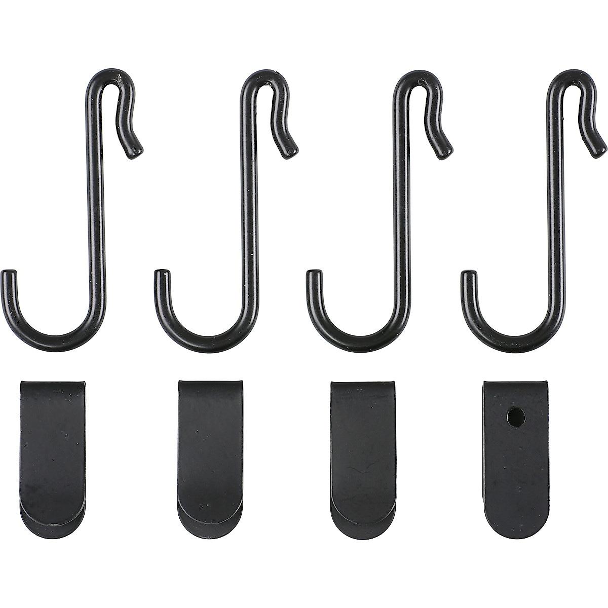 Krokar och clips till metallnät 8-pack