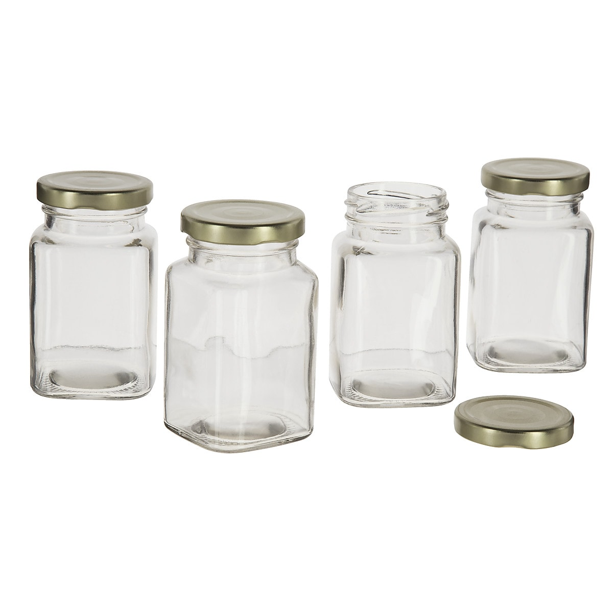 Screw-Top Glass Jars 4-pack