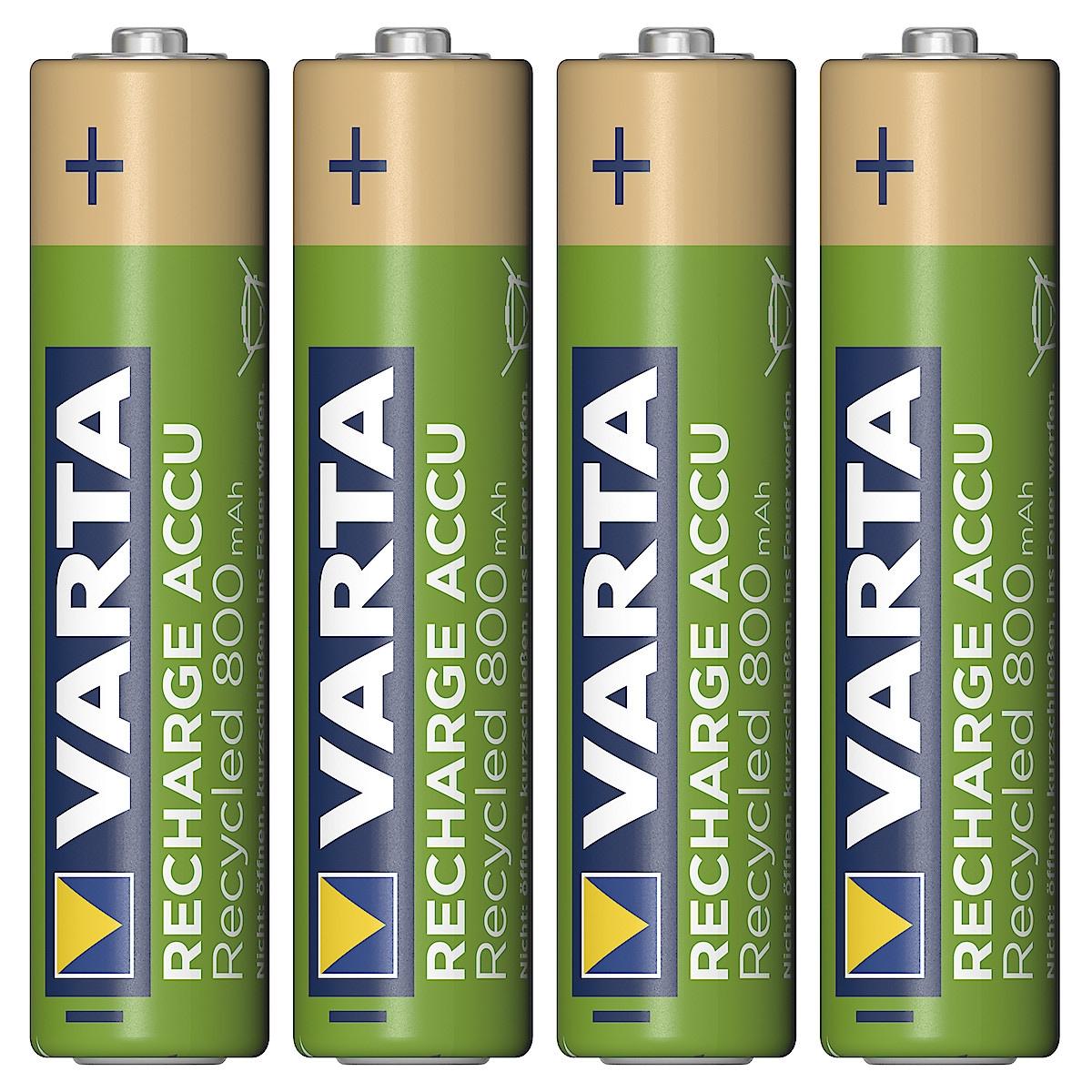 Laddningsbart batteri AAA/HR03 VARTA Recycled