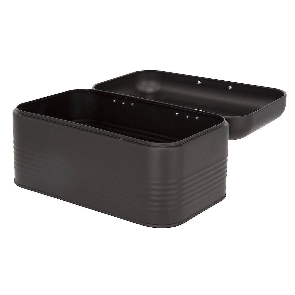Pieni leipälaatikko musta/hopea