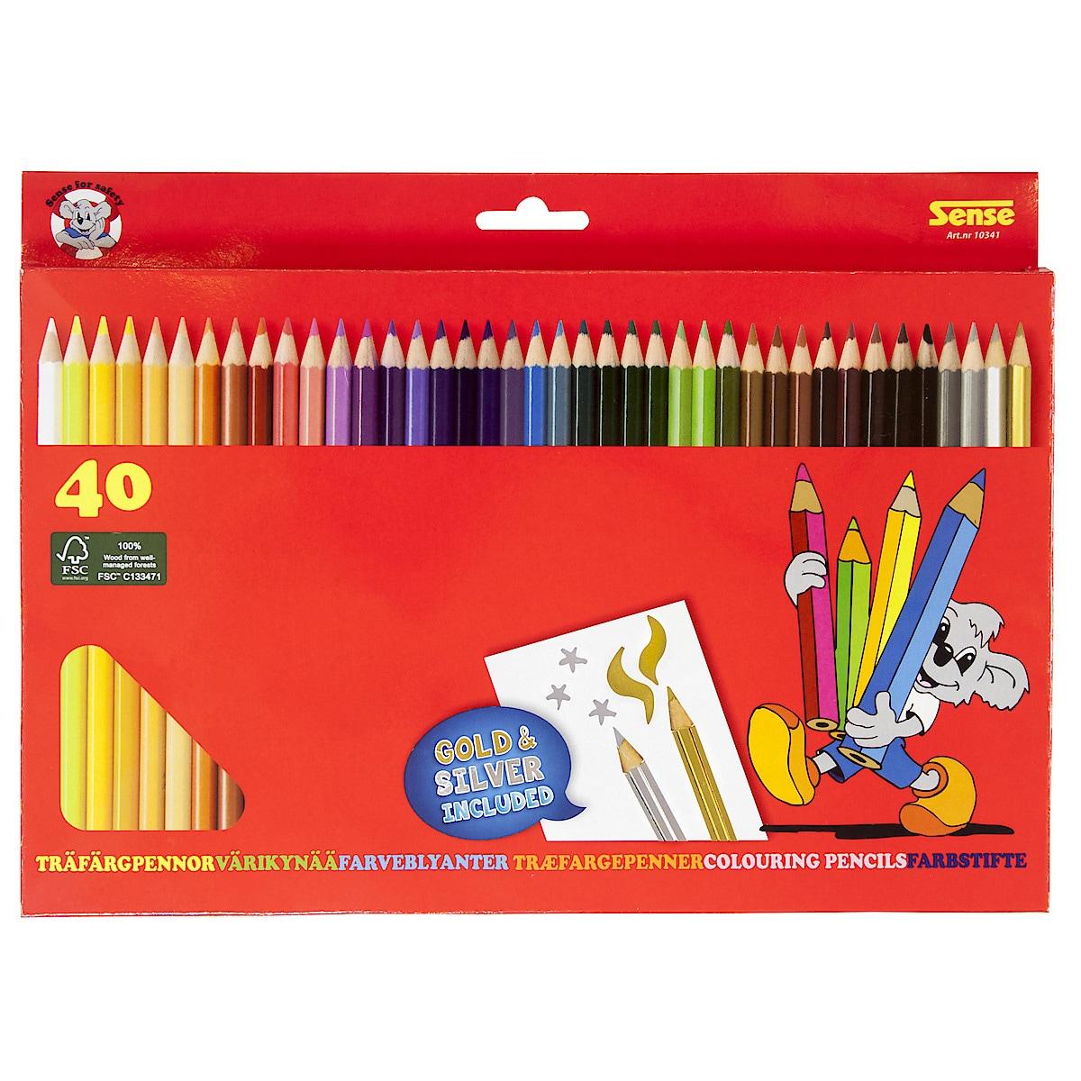 Set of 40 Sense Coloured Pencils