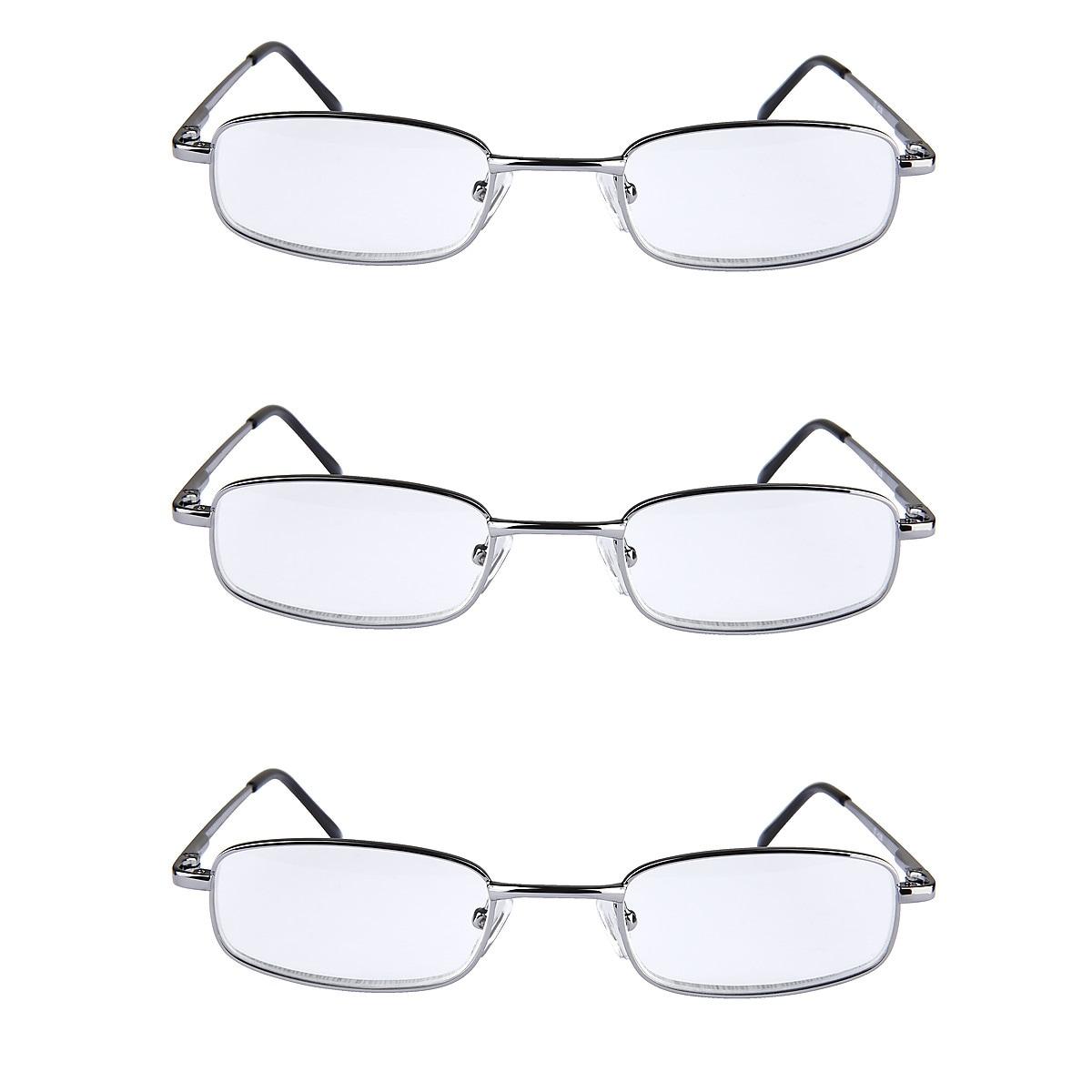Pack of 3, Metal Reading Glasses