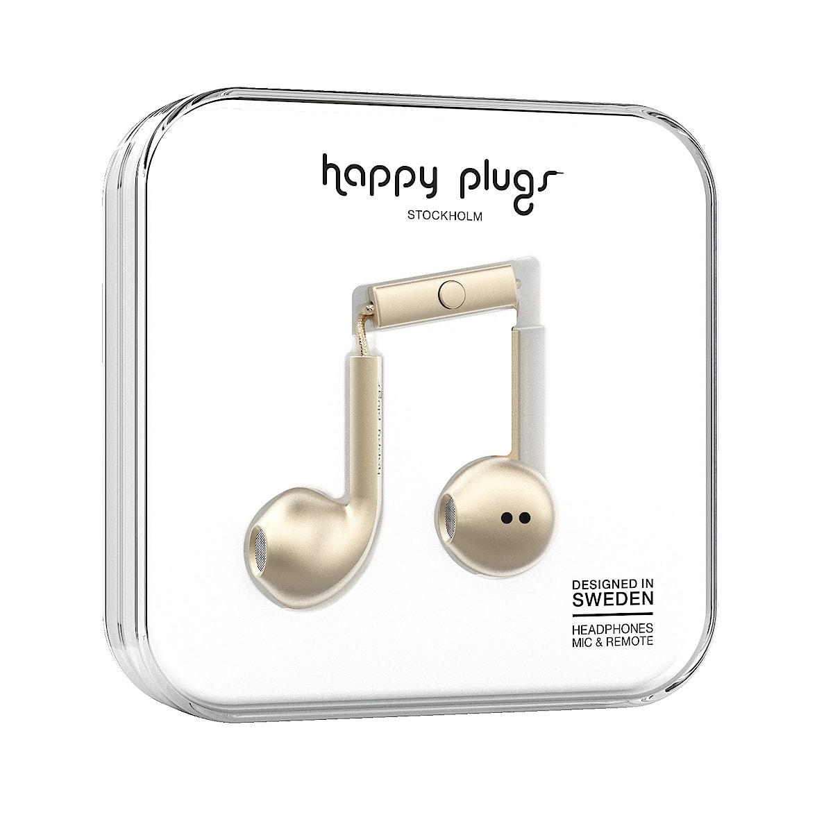Hörlurar med mikrofon Happy Plugs Earbud Plus Deluxe Edt