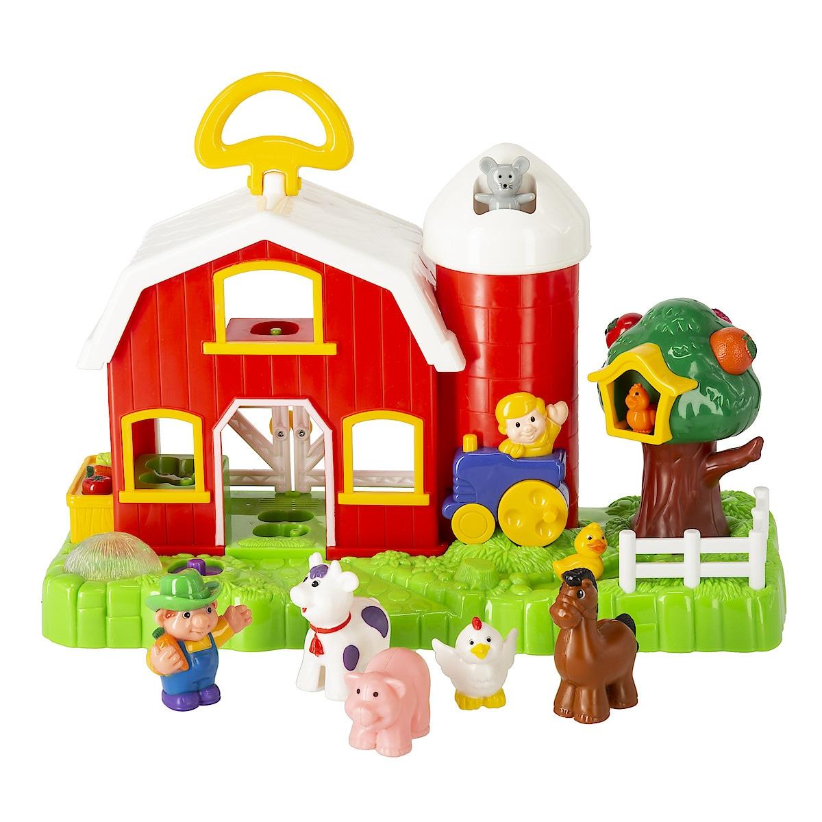 Bondgård med djur och ljud