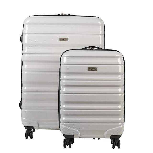 Resväskor 2 pack Asaklitt, vit | Clas Ohlson