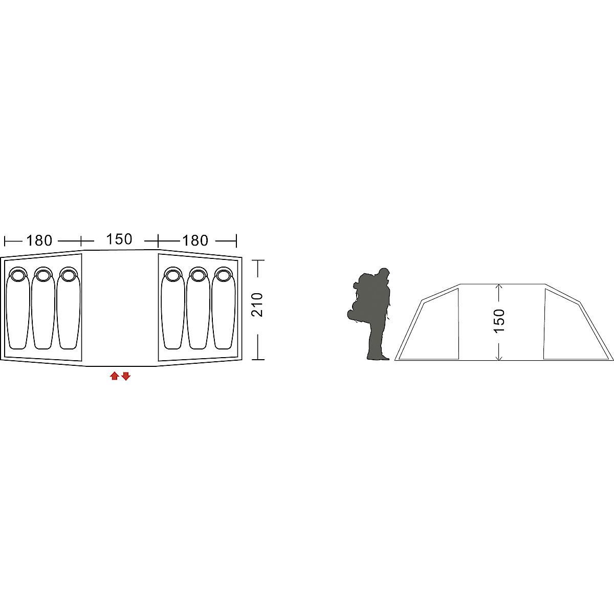 6 hengen teltta, Asaklitt