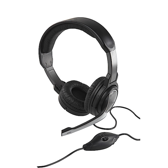 Headset med mikrofon | Clas Ohlson