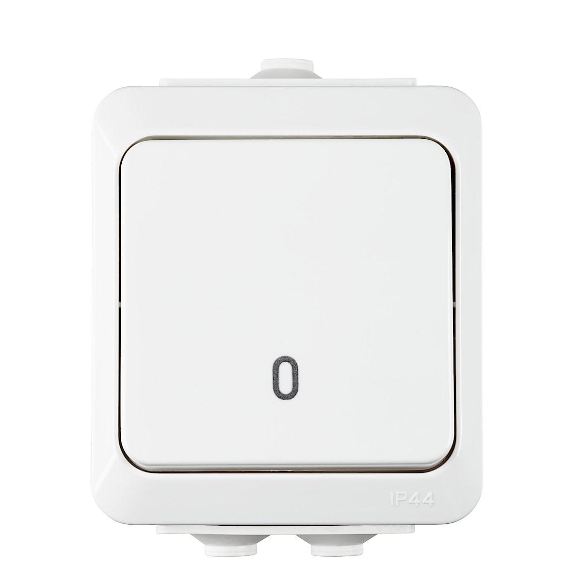 Utanpåliggande strömbrytare IP44 Cotech
