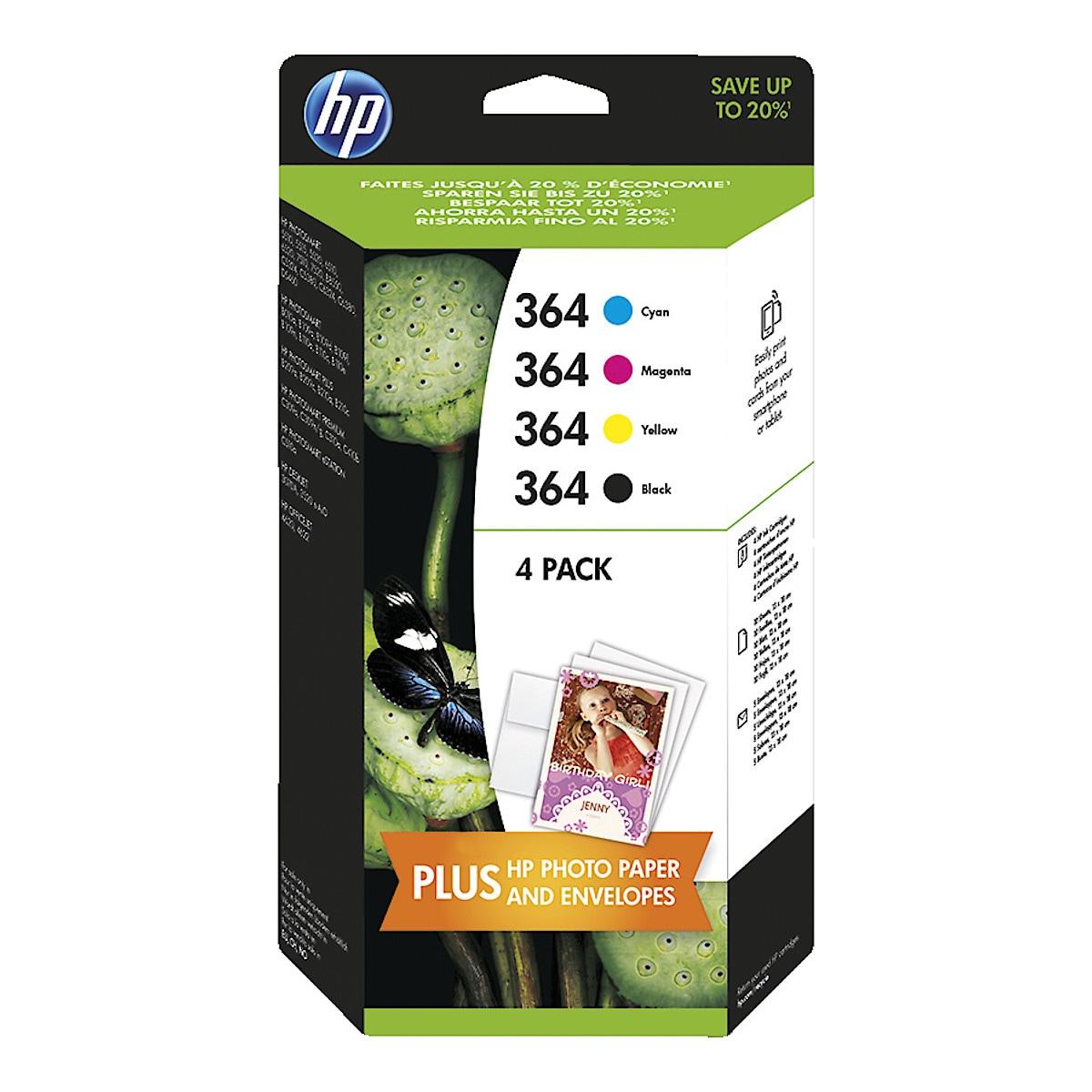 HP 364 MULTI 1X6 3X3ML+PAPERI