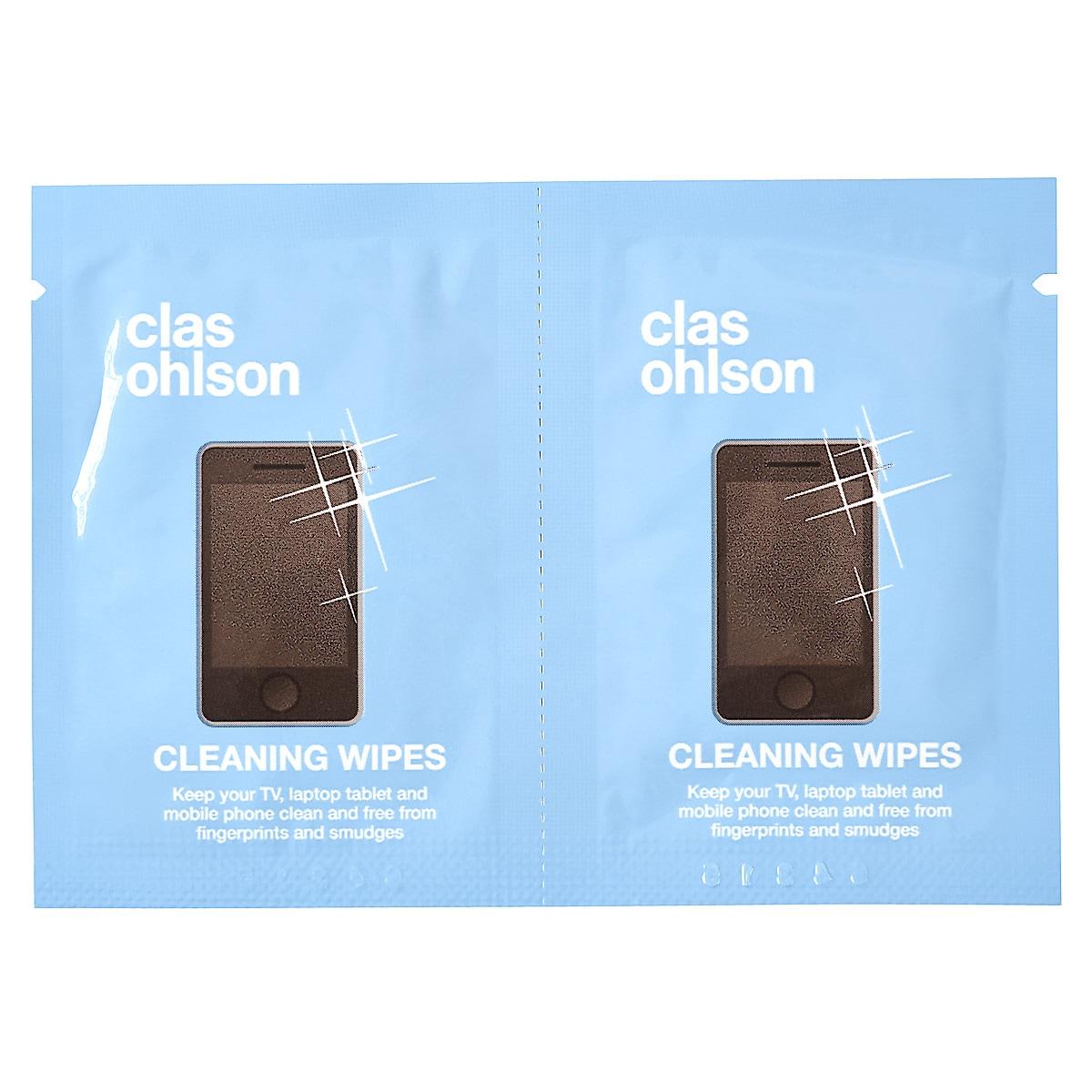 Våtservetter för skärmrengöring Clas Ohlson