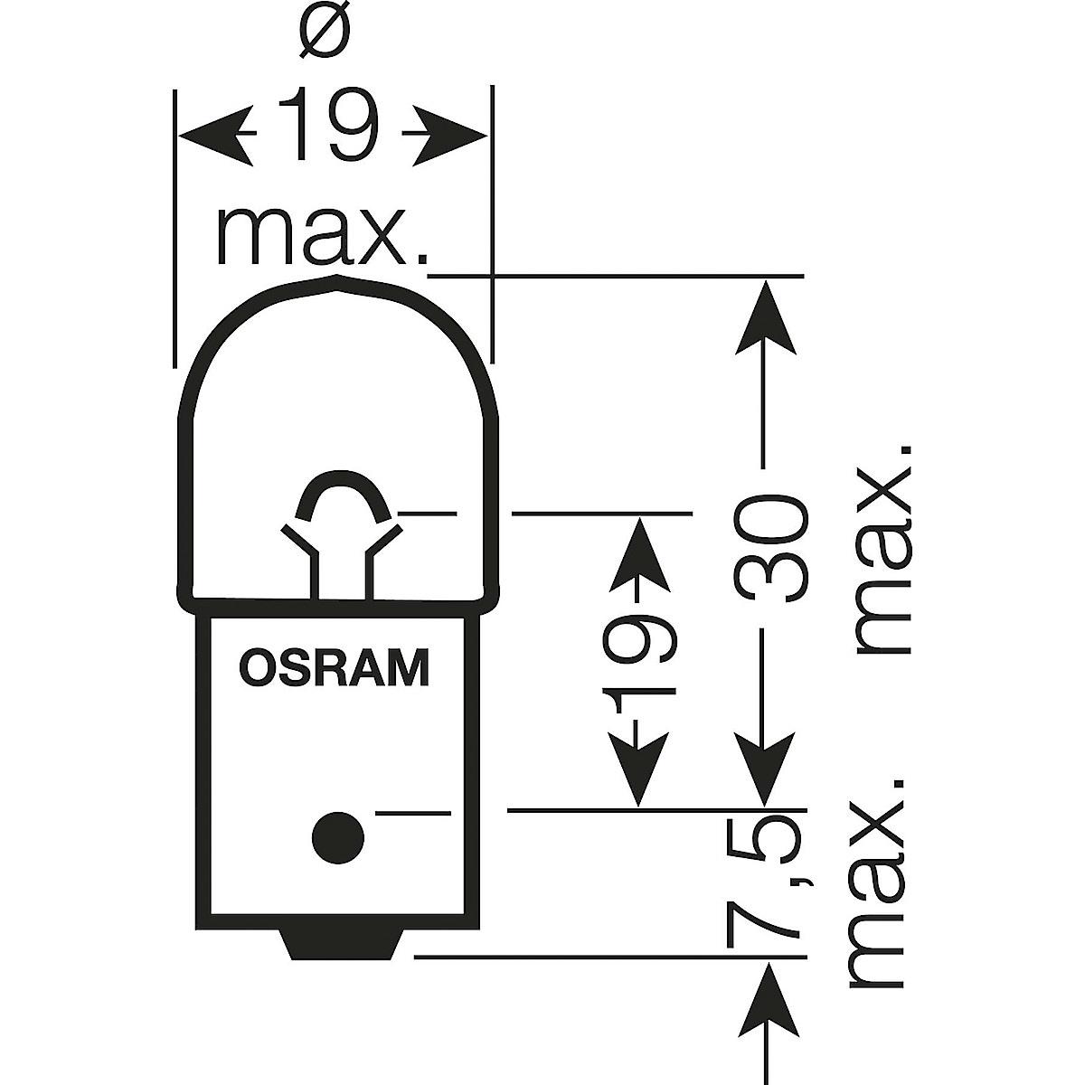 Osram R5W, BA15s Car Bulb