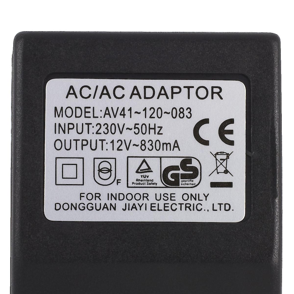 Nettadapter 12 V AC/830 mA