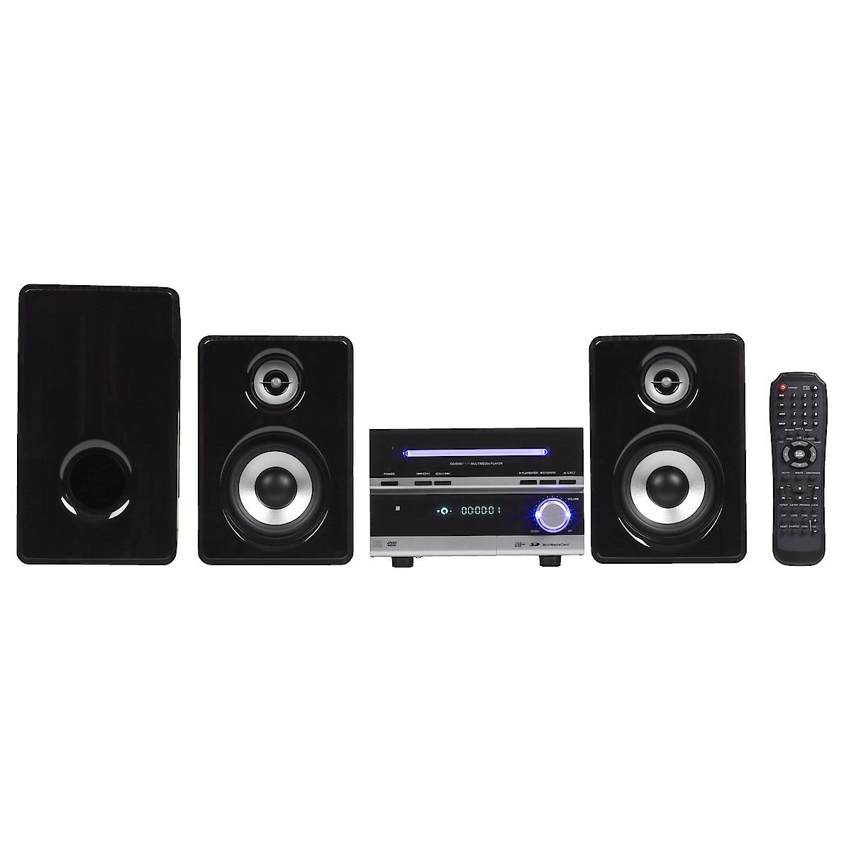 Musikkanlegg med CD/DVD/MP3/MPEG4-spiller