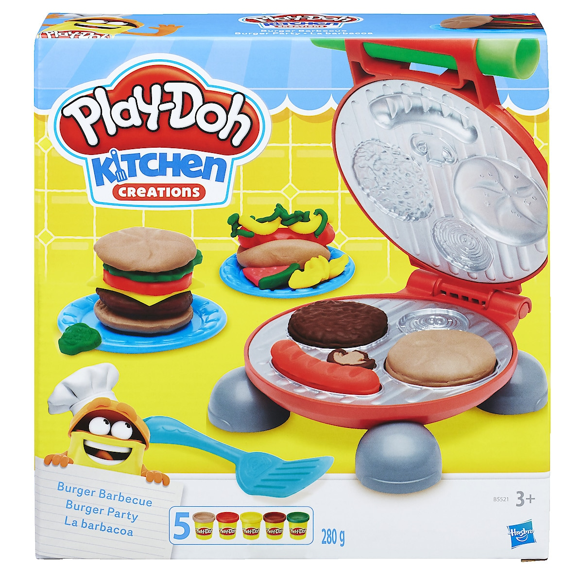 Muovailuvaha Play-Doh Burger Barbecue Set