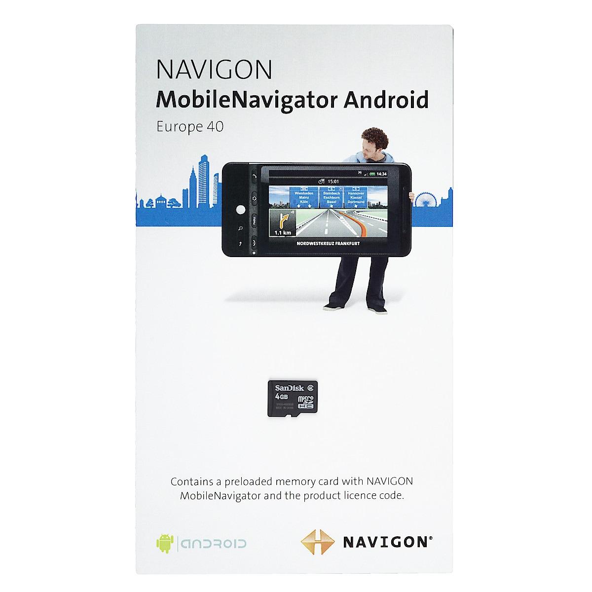 Navigon MobileNavigator Android GPS-software