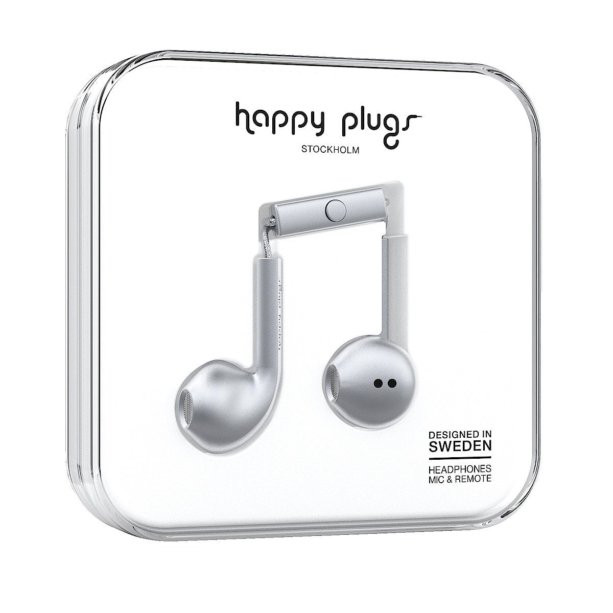 Hörlurar med mikrofon Happy Plugs Earbud Plus Deluxe Edt