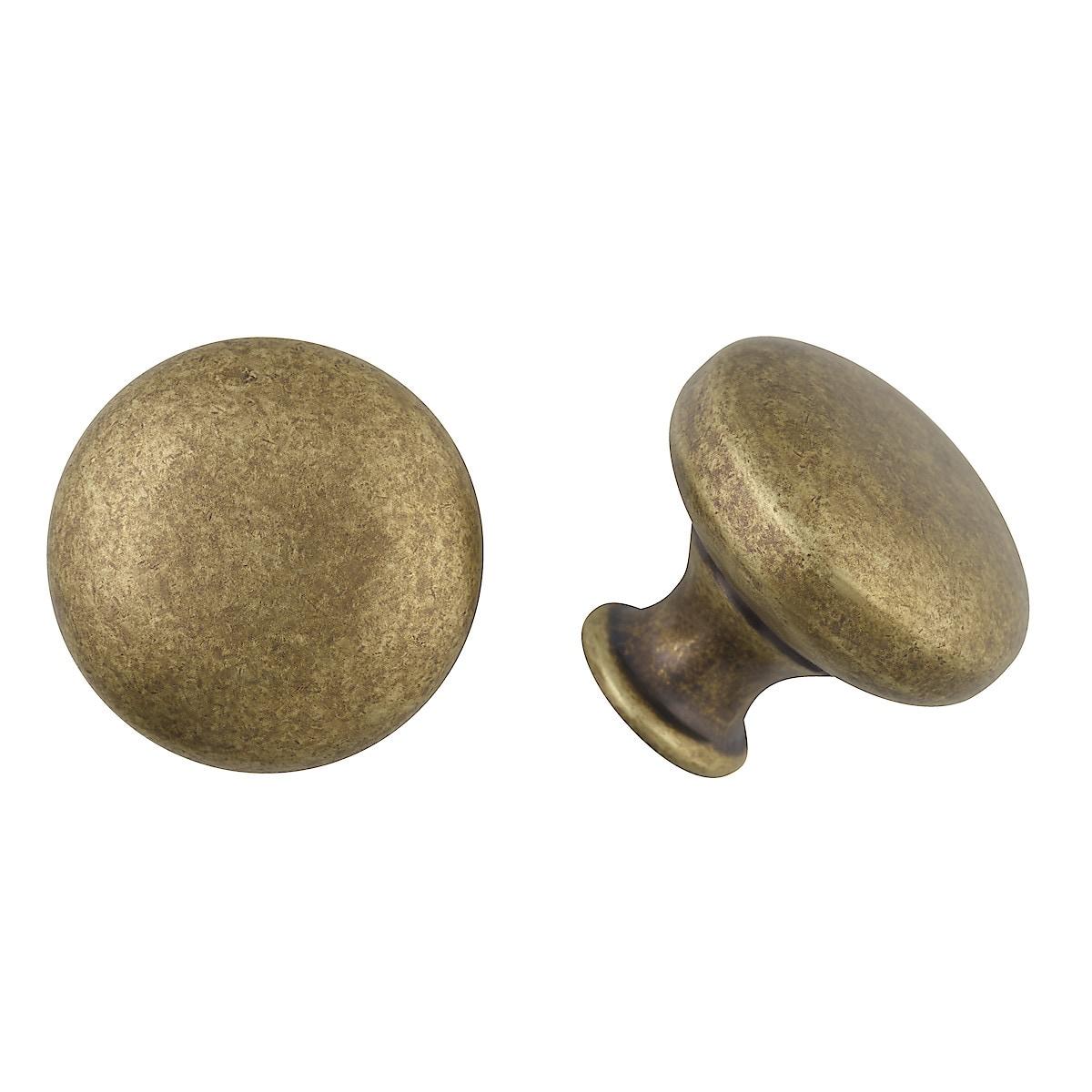 Rund knopp antik guld