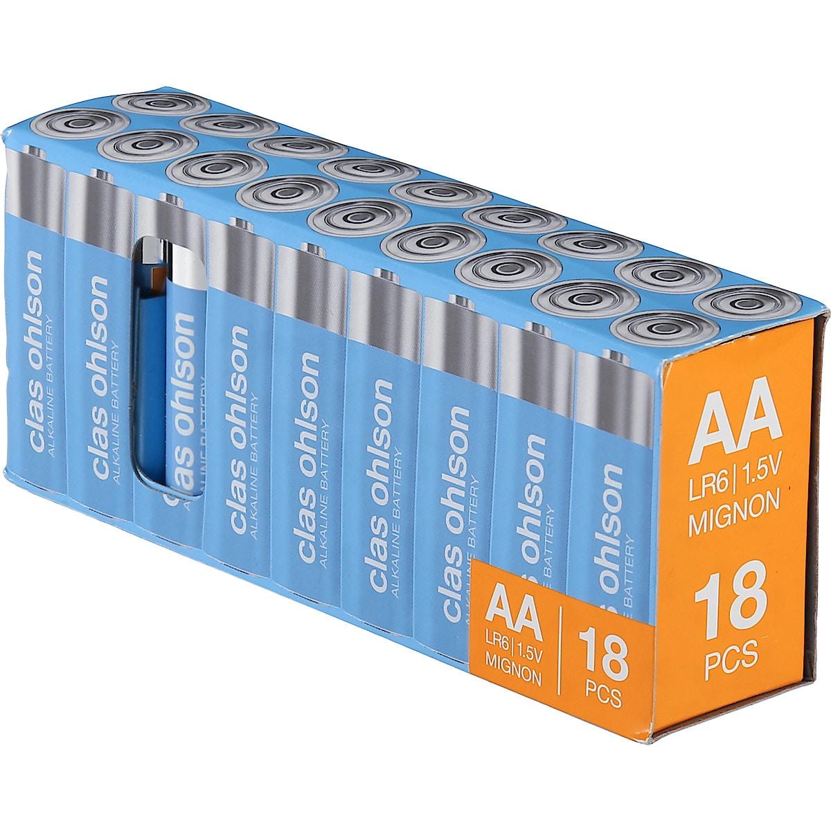 Alkaliparisto AA/LR6 18 kpl Clas Ohlson