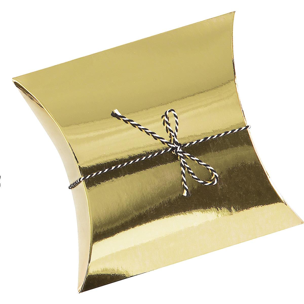 Gaveforpakning gull, 15 x 15 x 4 cm