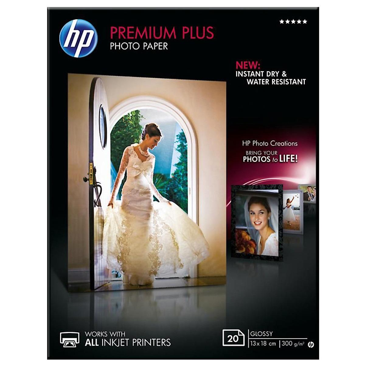 Fotopapier HP 13x18 cm HP Premium Plus Glossy