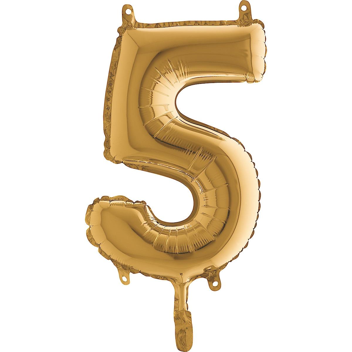Zahlenballon Gold