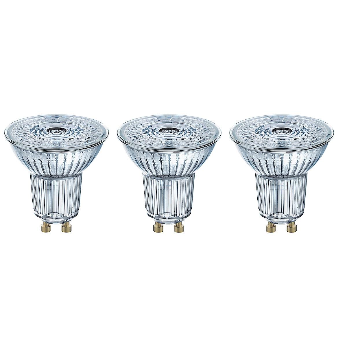 Osram LED-pære GU10, 3-pack
