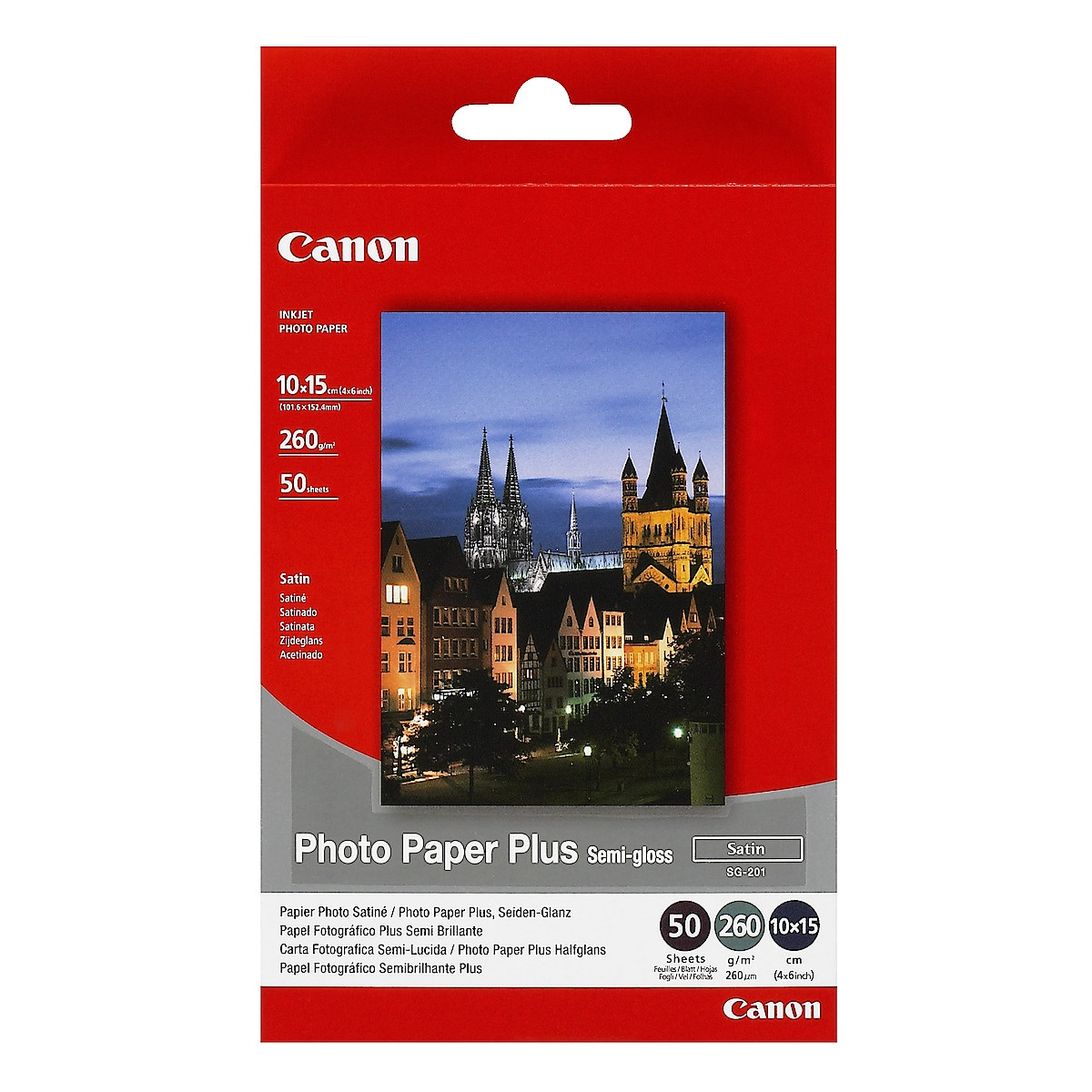 Mustesuihkupaperi 10x15 cm Canon Photo Paper Plus SG-201, semi-glossy