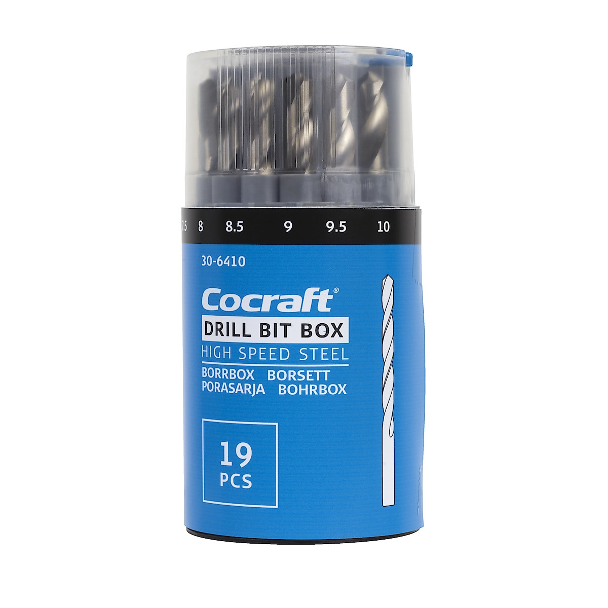 Cocraft 19-Piece HSS Drill Bit Box
