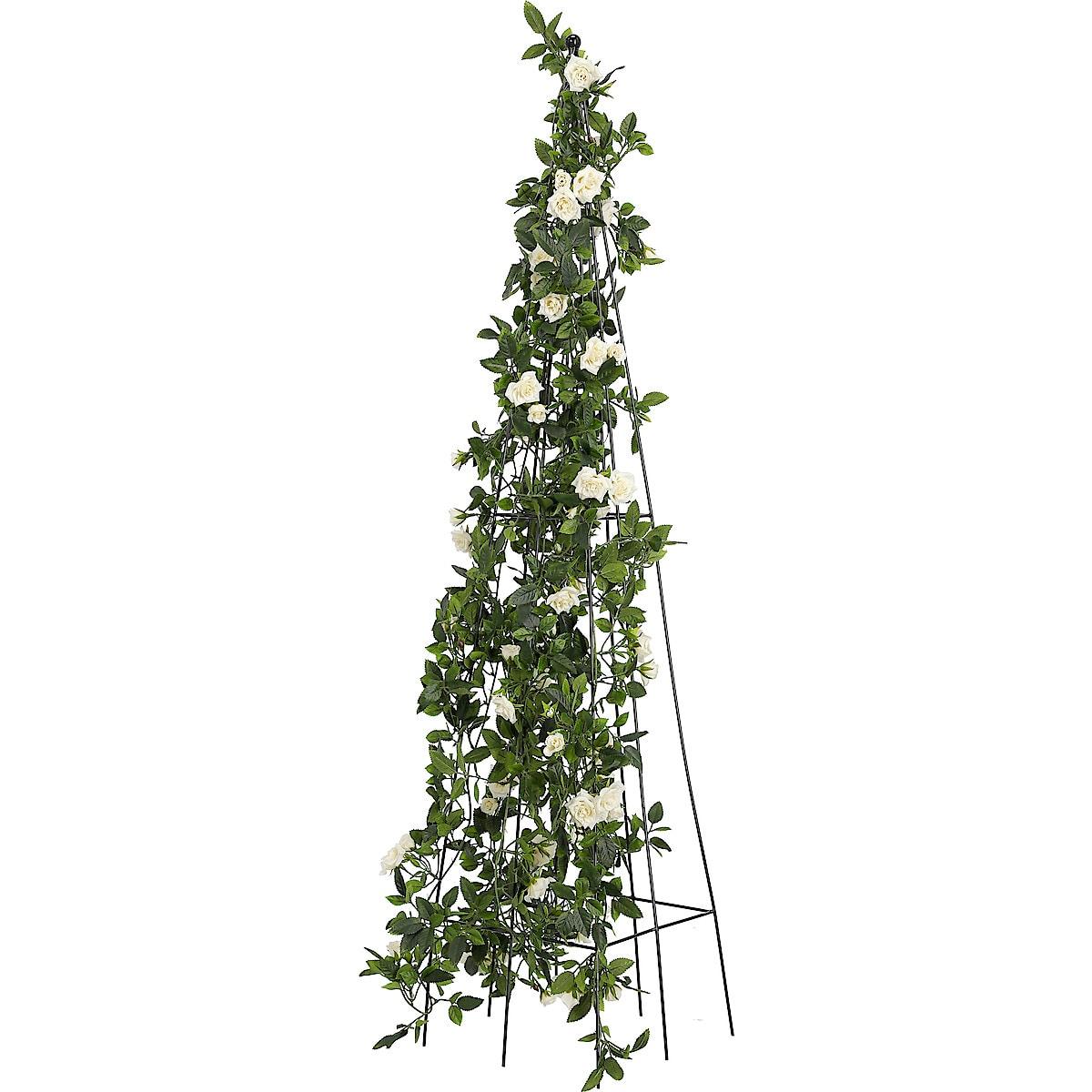 Plantestøtte i svart metall, 120 cm