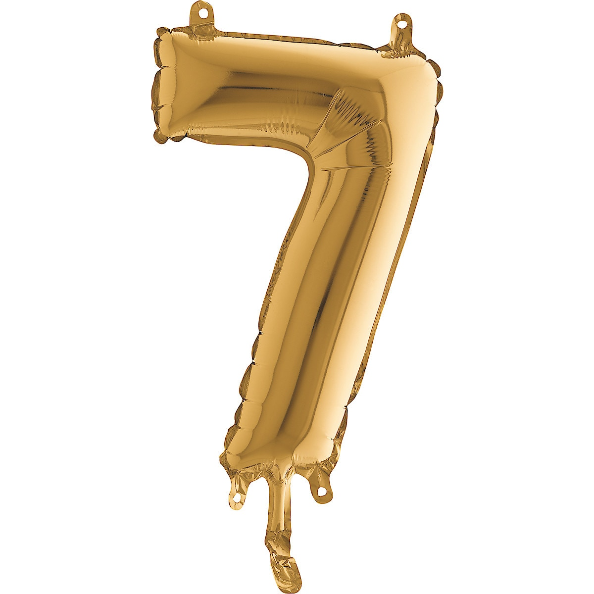 Gold Number Shaped Balloon