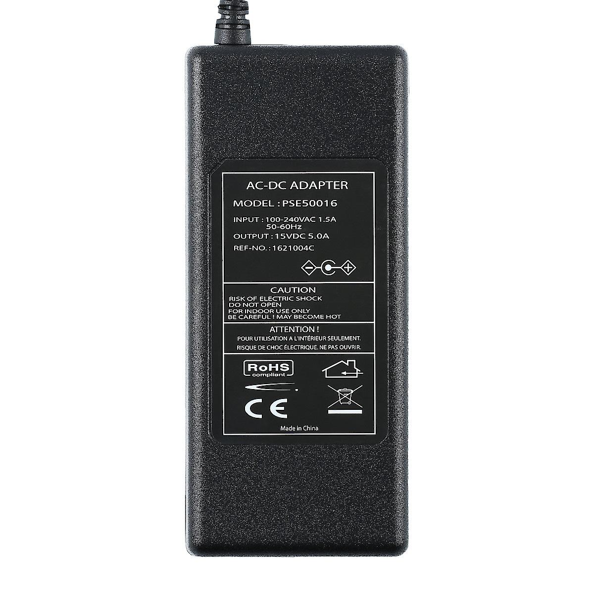 Nettadapter 15 V/5 A