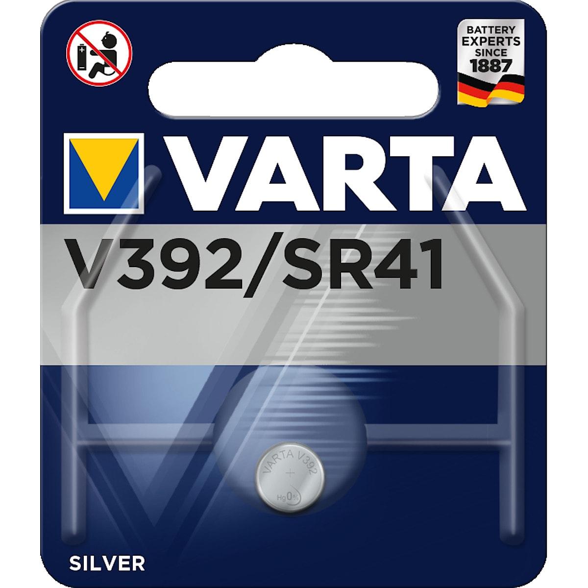Knappcellsbatteri V392/SR41 Varta