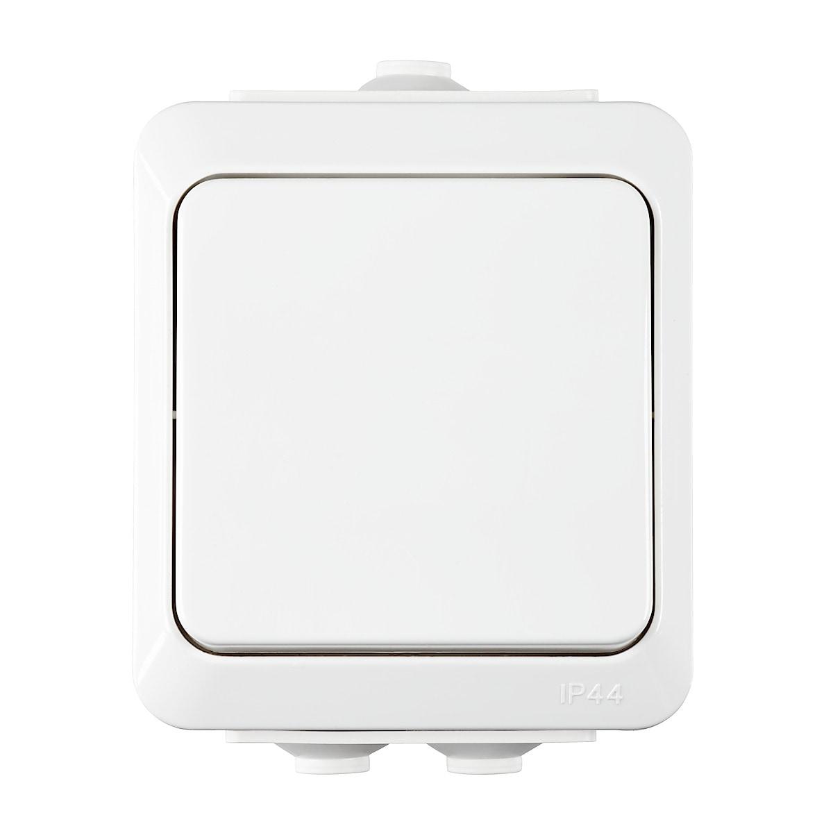 Virtakytkin 1-napainen/porras IP44, Cotech