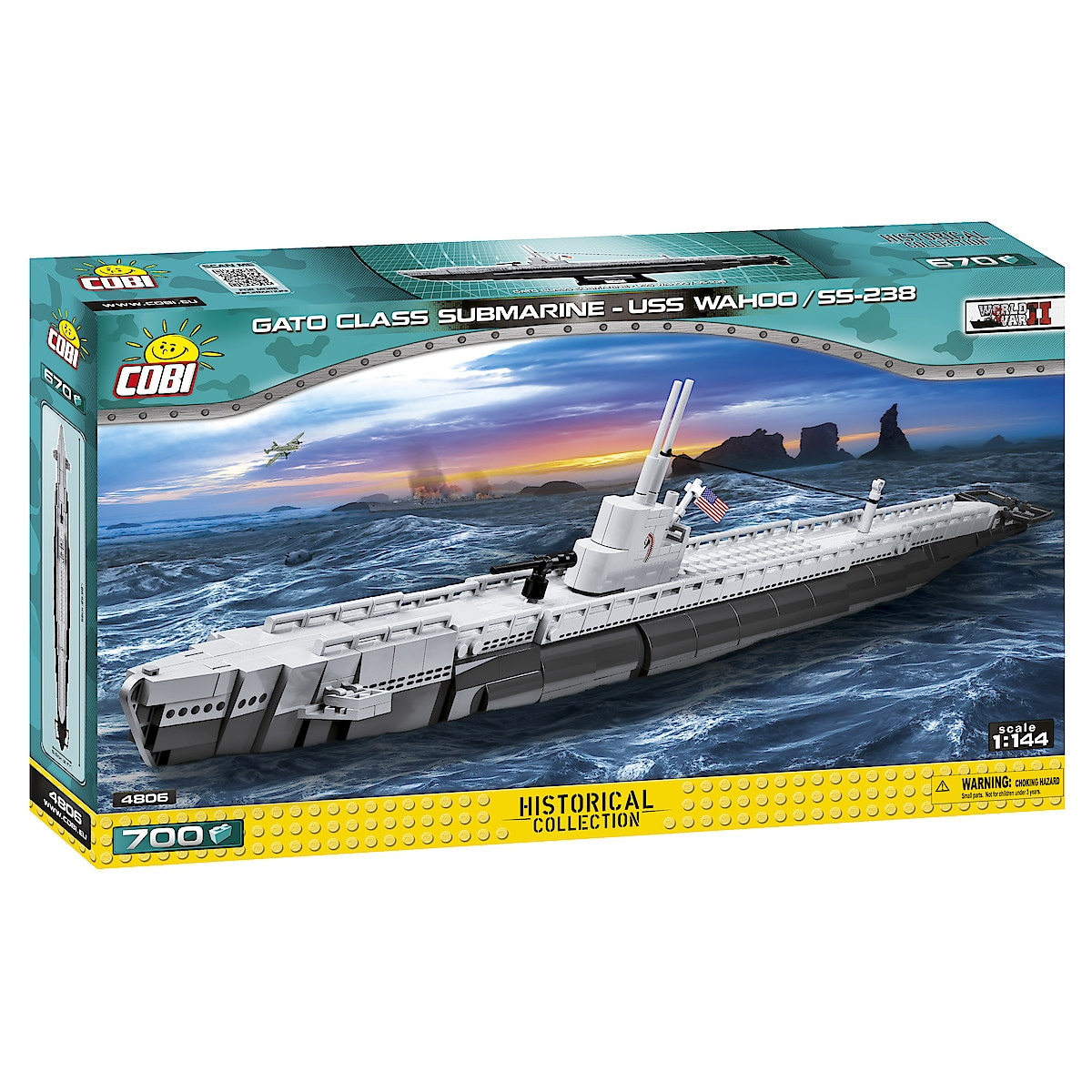 Cobi byggeklosser, USS Wahoo SS-238, ubåt