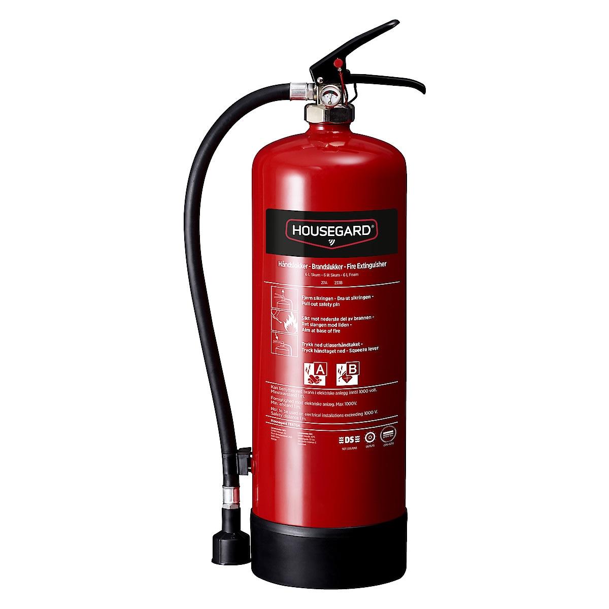 Housegard brannslukker skum 6 l
