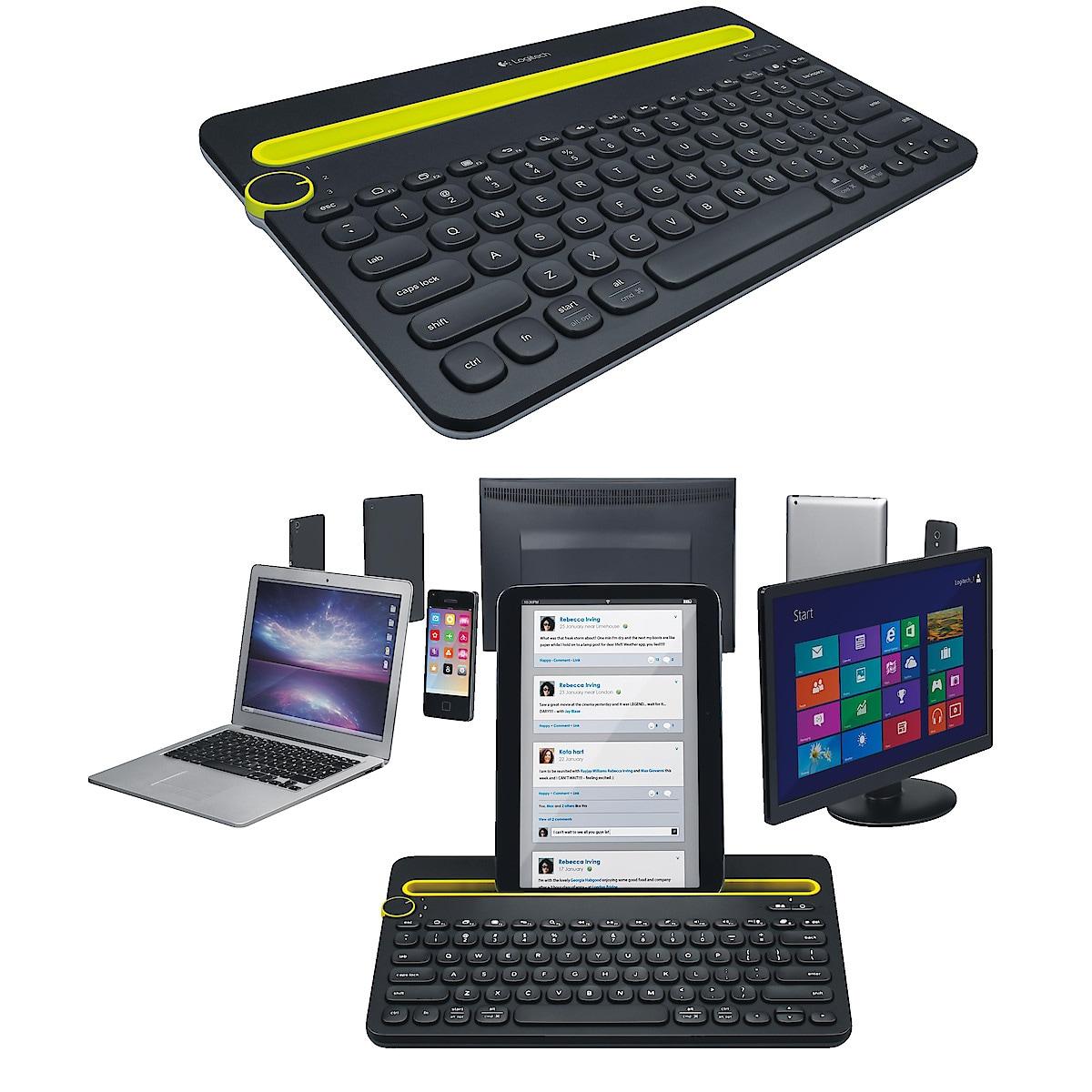 Bluetooth-tangentbord med ställ, Logitech K480