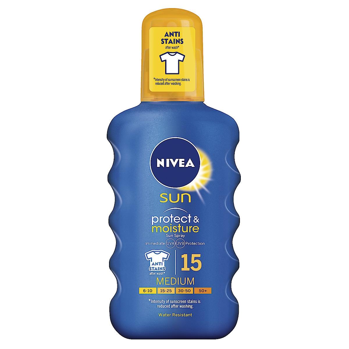 Aurinkovoide Nivea Sun, Protect & Moisture Spray SPF15