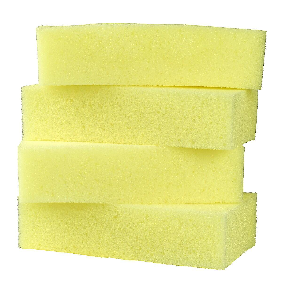 Tvättsvampar med schampo/vax 4-pack