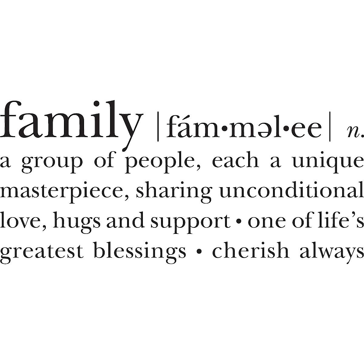 Veggdekor Family